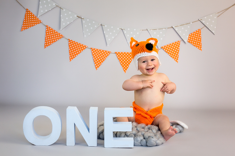Kinderfotografie erster Geburtstag in Fotostudio Bergheim